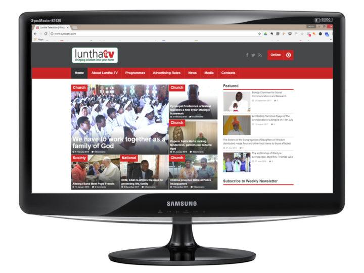 Website Design for Luntha Television