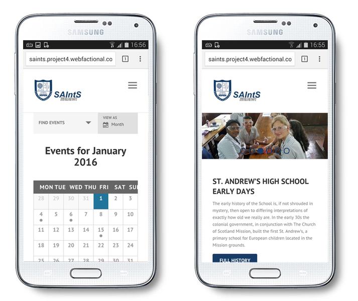 Website design for Saint Andrews International School