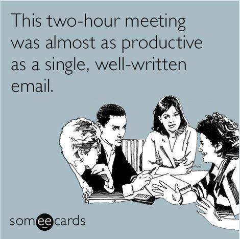email as productive as a meeting