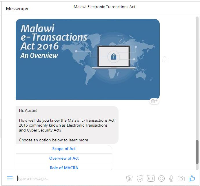 Malawi e-transactions act