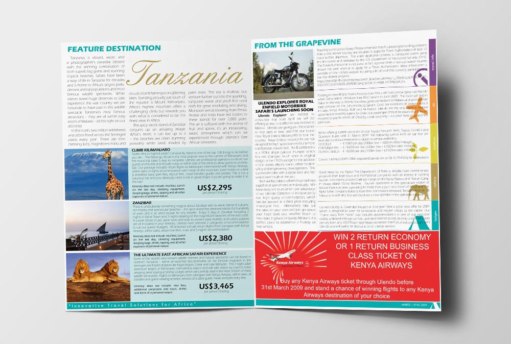 Ulendo Travel newsletter