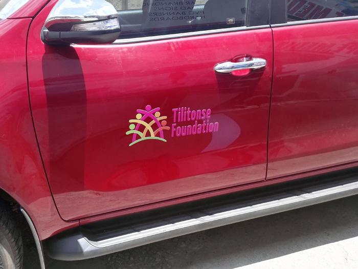 Tilitonse Foundation car branding