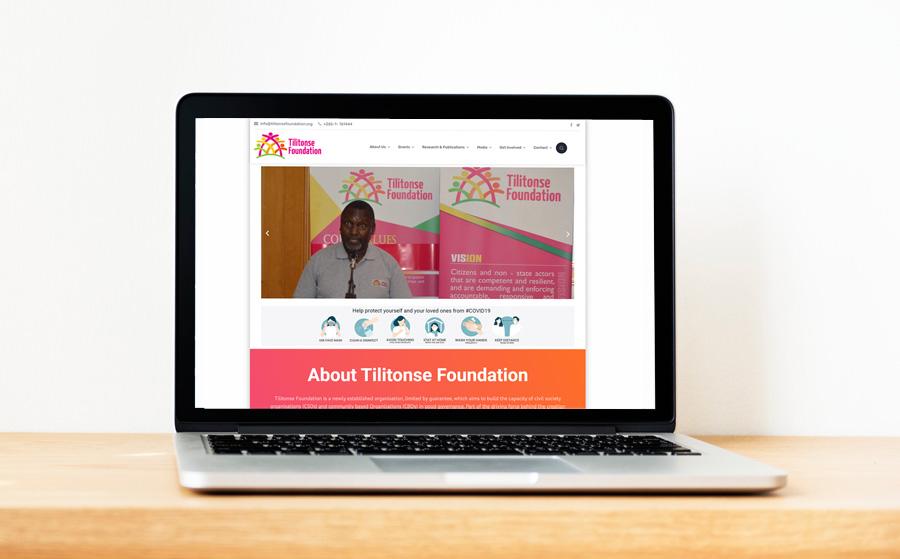 Tilitonse Foundation website